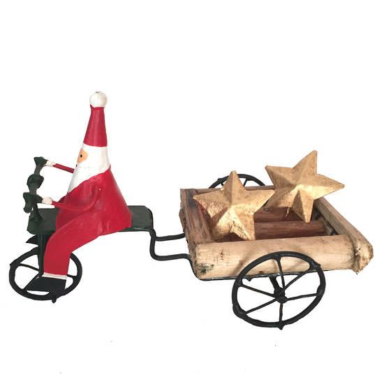 Santa on Cart Delivering Stars to Good People