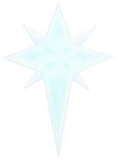 LED Flame Christmas Star Window Sticker
