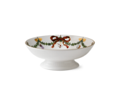 StarFluted Christmas Small Footed Dish 18cm