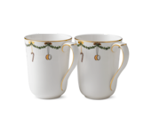 StarFluted Christmas Mugs, Pair