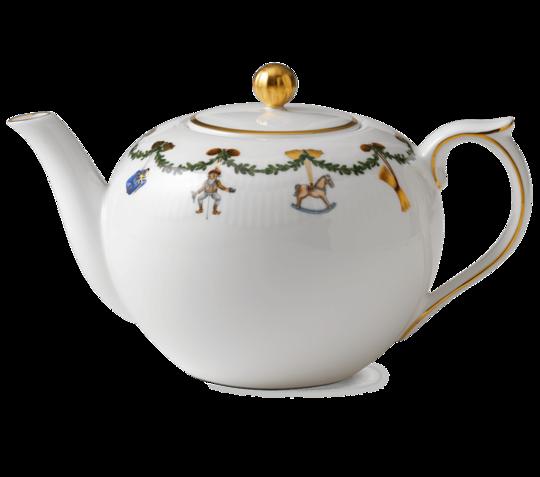 Starfluted Christmas TeaPot