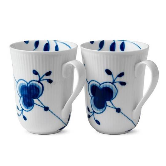 Royal Copenhagen Blue Mega Mugs, Pair