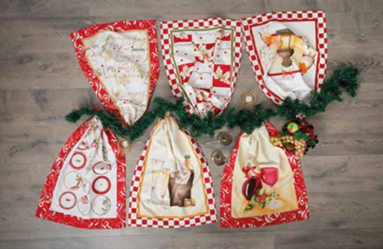 Festive Christmas Tea Towel