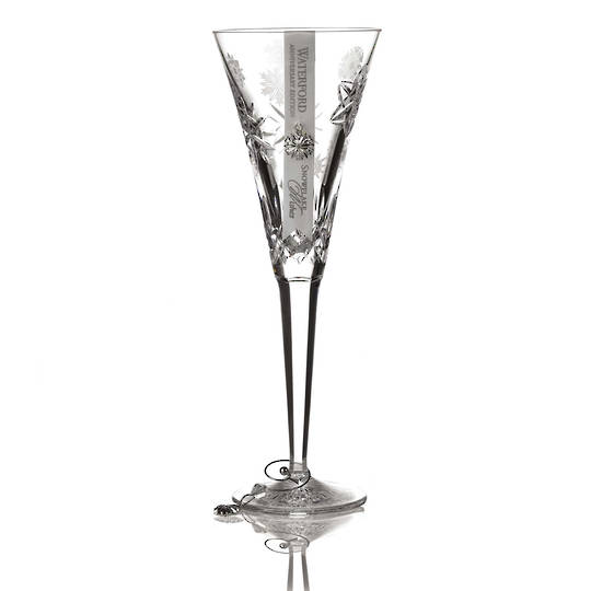 Waterford Snowflake Wishes Anniversary Flute Clear, 2020