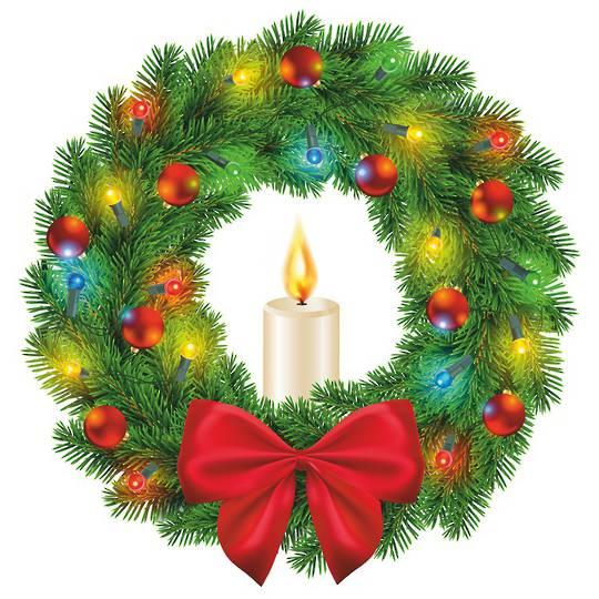 LED Flame Wreath Window Sticker