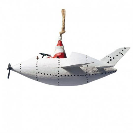 Tin Santa in White Rocket