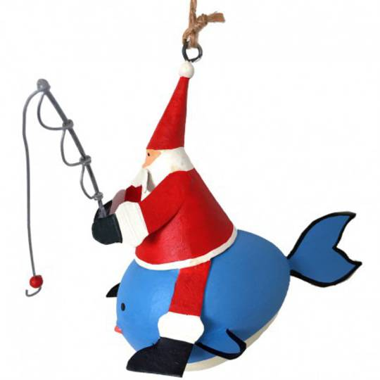 Tin Santa Fishing on Whale