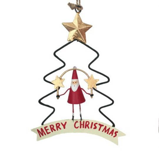 Tin Santa in Xmas Tree