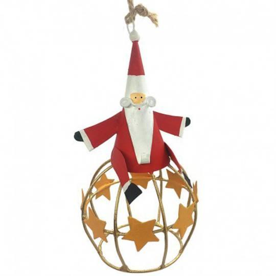 Tin Santa on Star Globe