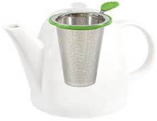 Stainless Steel Filter with Silicon Tea Leaf Handle