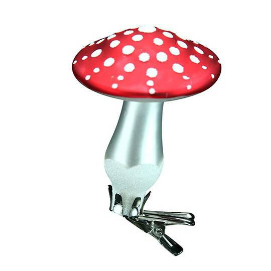 Glass Mushroom Clip 7cm