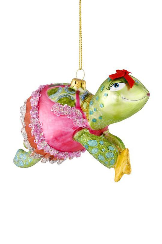 Glass Hanging Turtle 12cm