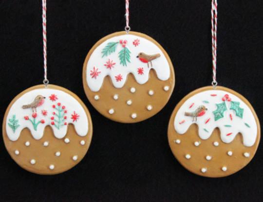 Resin Hanging Nordic Gingerbread Puddings