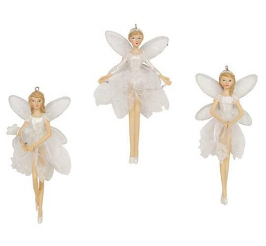 Resin Fairy Sheer Iridescent Dress Sml 12cm