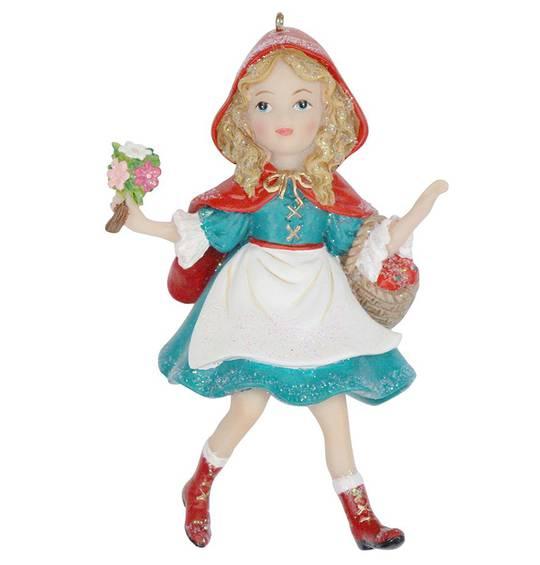 Resin Little Red Riding Hood 11cm