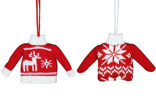 Knitted Jumper Red/White 10cm