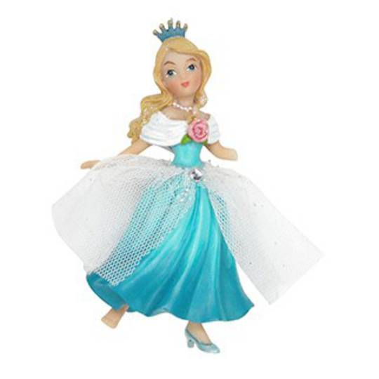 Resin and Fabric Blue Cinderella 11cm