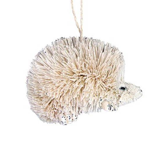 Hanging White Bristle Hedgehog 7cm