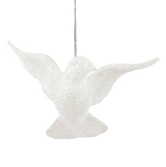 Iridescent Glitter Flying Dove 11cm