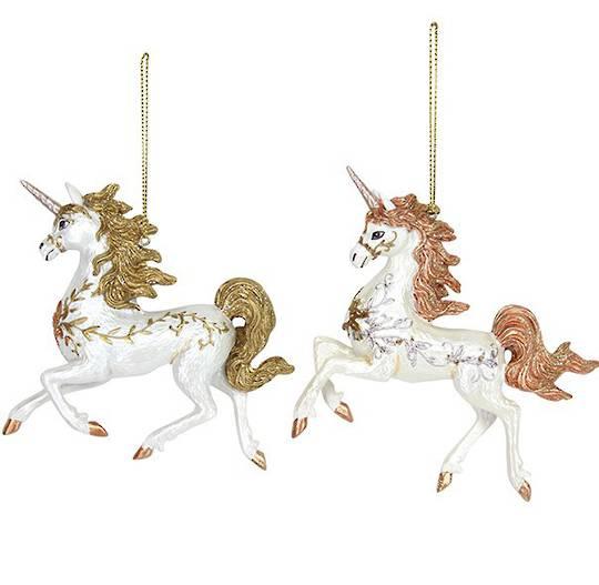Resin Prancing Unicorn 11cm