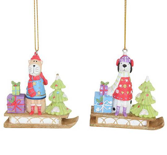 Resin Sledge with Pet 7cm