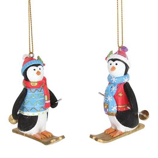 Resin Fun Winter Penguin on Skis