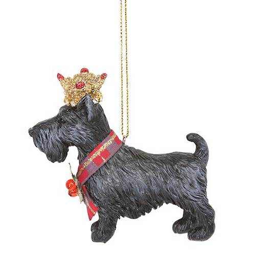 Resin Scottie Dog with Crown 8cm