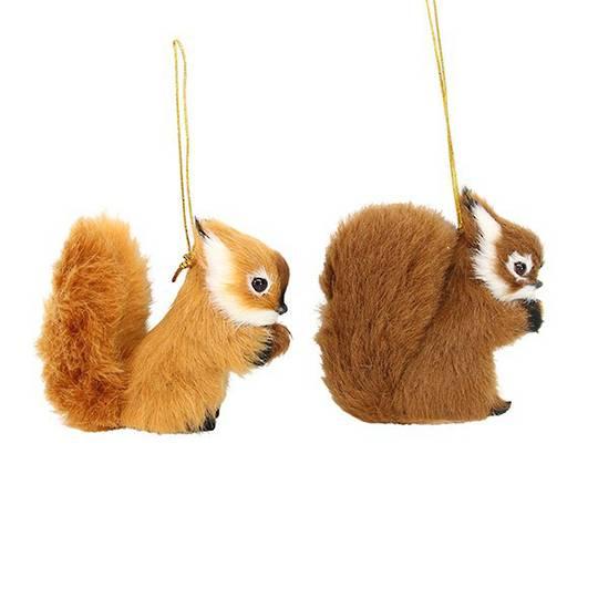 Fluffy Fur Fabric Squirrel 9cm