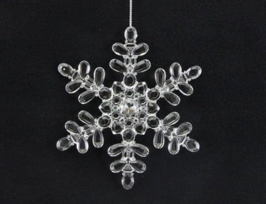 Clear Acrylic Snowflake 13cm