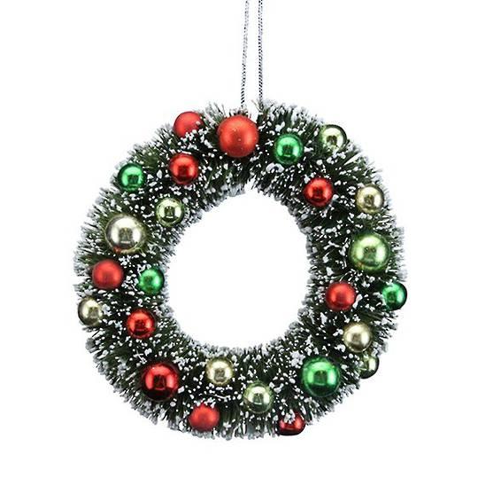 Bristle and Ball Mini Wreath 12cm