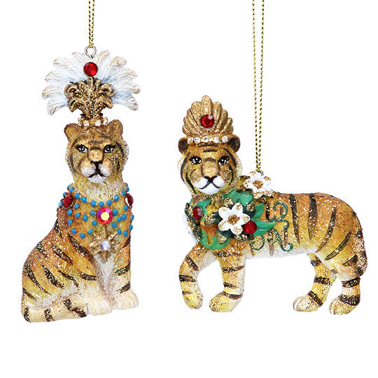Resin Tiger with Crown 9cm