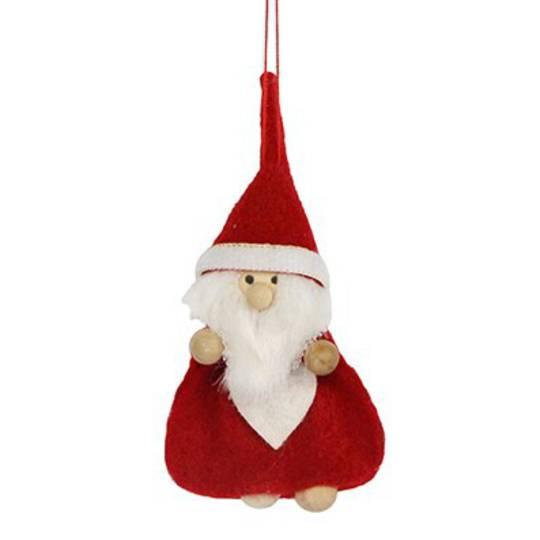 Felt Scandinavian Santa with Wood Feet and Hands