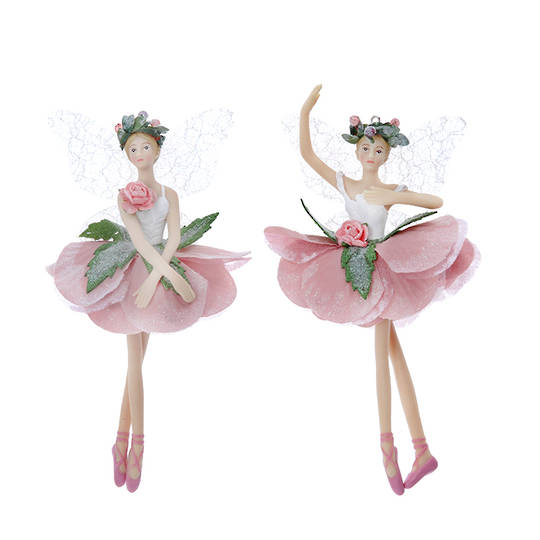 Resin Fabric Dusty Pink Ballerina Fairy 17cm SOLD OUT