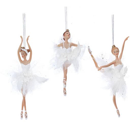Resin Fabric White Ballerina 19cm