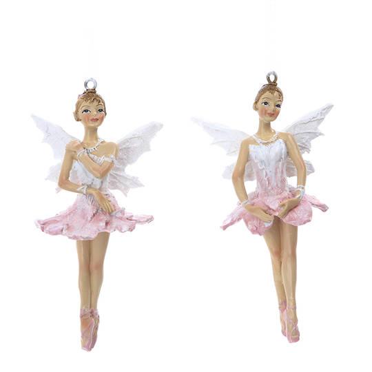 Resin Dusty Pink Flower Fairy 10cm