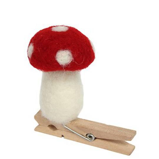 Felt Mushroom Peg