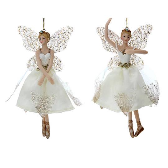 Cream Gold Peace Fairy 15cm