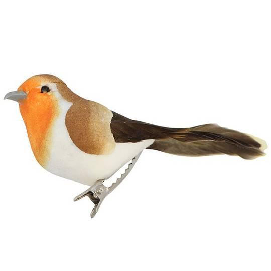 Clip, Mini Feather and Paper Robin 7cm