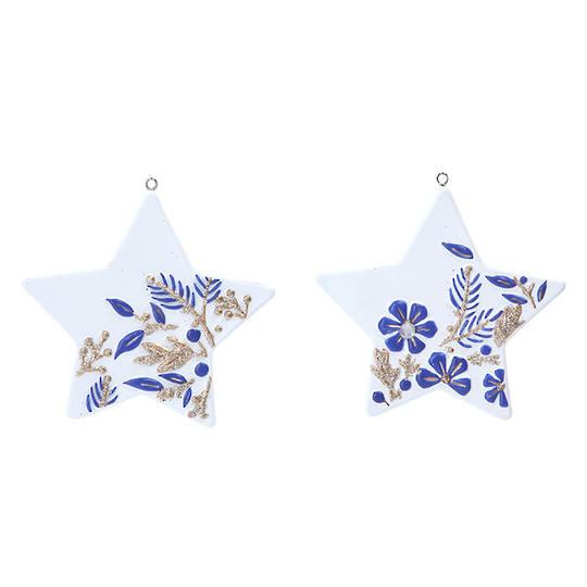 Resin Gold White Blue Star 8cm