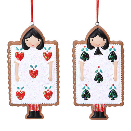 Resin Alice in Wonderland Gingerbread Card 9cm