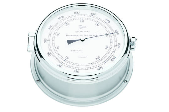 BM Marine Professional Chrome, Barometer & Clock Set 2