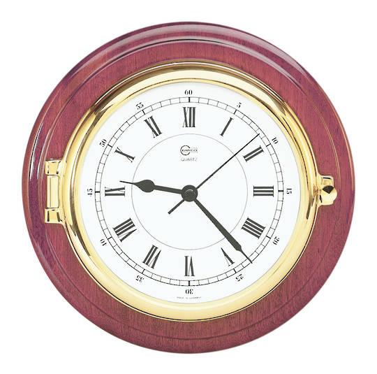 BM Marine Clock Mahognay & Brass