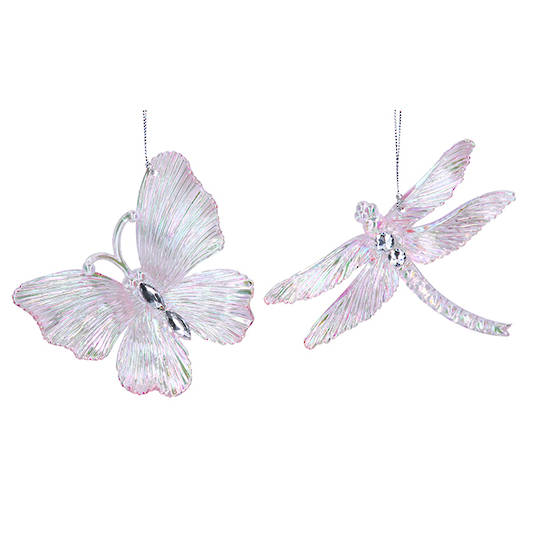 Pink Lustre Diamond Acrylic Insect 11cm