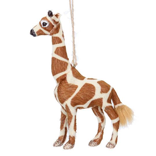 Hanging Faux Fur Giraffe 15cm