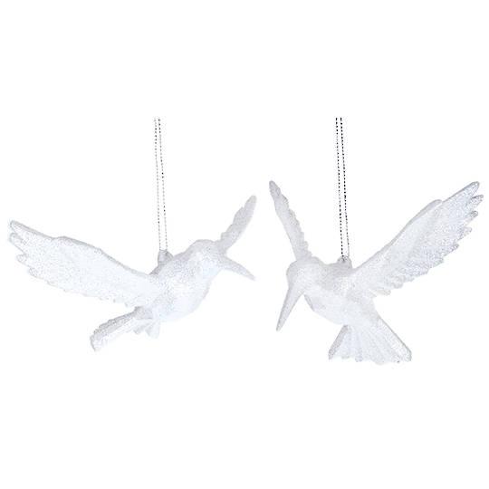 Acrylic White HummingBird 10cm