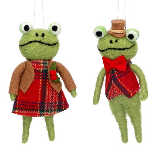 Wool Mr or Mrs Frog 14cm