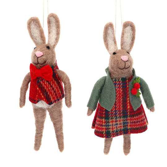 Wool Mr or Mrs Hare 15cm