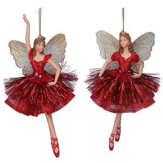 Resin Fairy Princess Red Dress 17cm