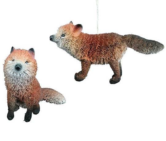 Hanging Bristle Fox 11cm/9cm