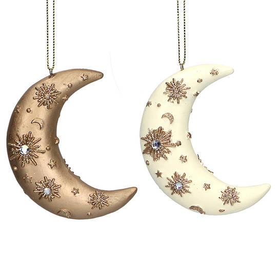 Resin Diamante Moon 8cm